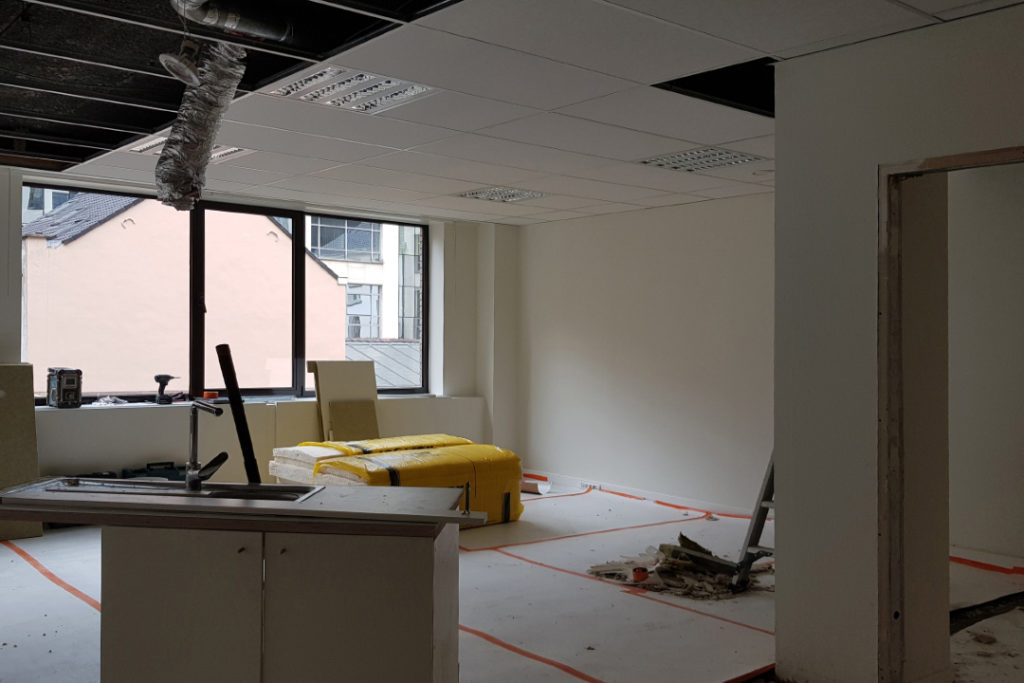 IPEC Europe before workspace redesign by Space Refinery