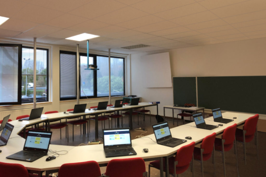 NXT-PRO classroom before redesign by Space Refinery